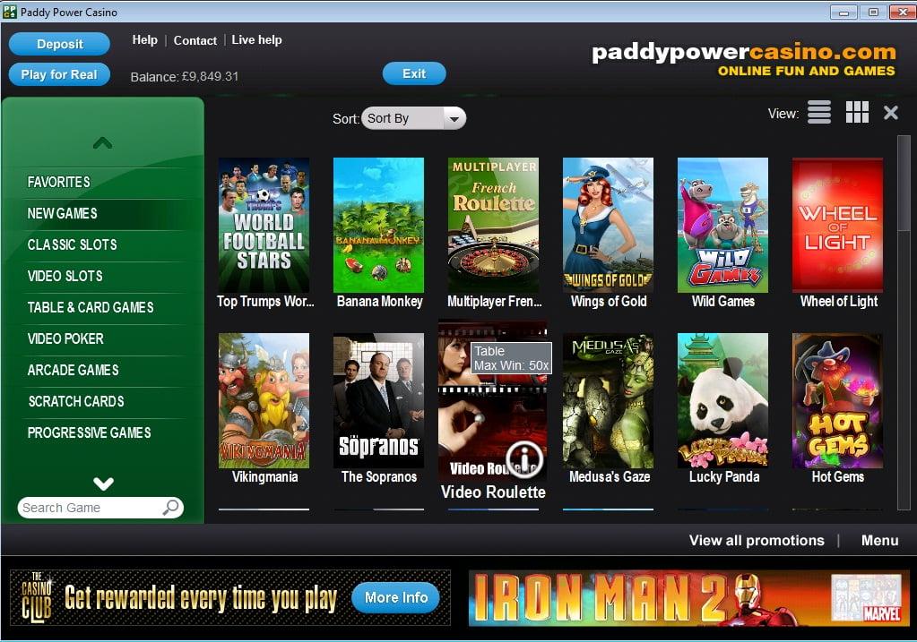 Paddy Power Casino no deposit bonus