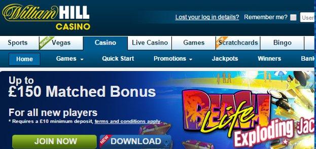 William hill casino bonus no deposit